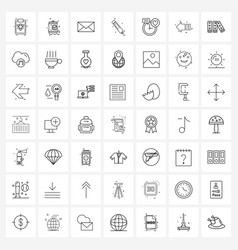 modern line 49 simple line icons value vector image