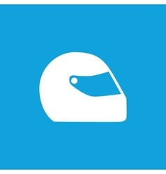 Motorcycle helmet icon simple vector