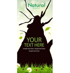 Natural Tree Background vector image