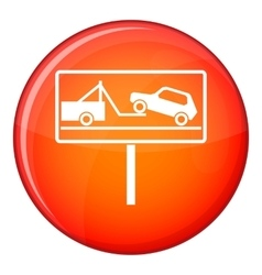 No parking sign icon flat style vector image