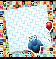 owl and balloon custom background vector image