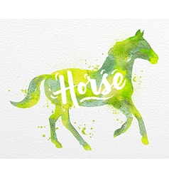 Painted animals horse vector