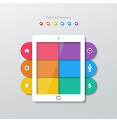paper tablet computer infographic vector image
