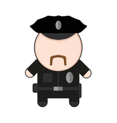profession character policeman vector image