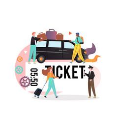 Public transport bus service concept vector