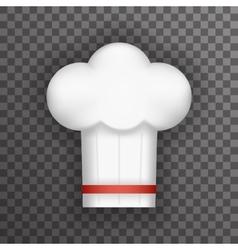 Realistic 3d Chief Cook Symbol Toque Cuisine Food vector image