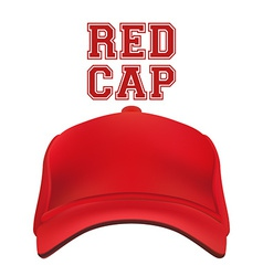 Red Cap isolated on white vector