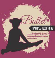 Retro ballet poster design vector