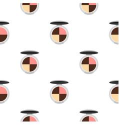 Round palette eye shadow pattern flat vector