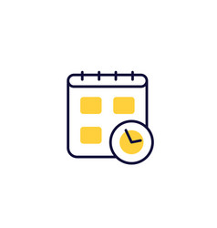 schedule icon on white vector image