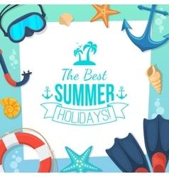 Sea shore and swimming accessories vector image