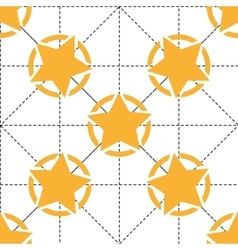 Seamless pattern with yellow stars and dotted vector