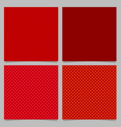 seamless red heart pattern background set vector image