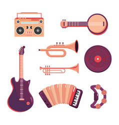 set music tape recorder with professional vector image