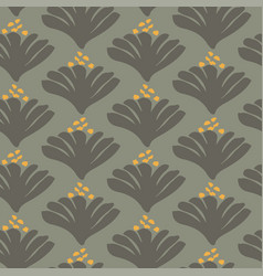 Shell flower minimal seamless pattern vector