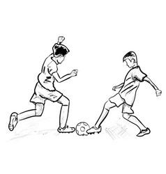 soccer vector image