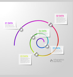 Spiral diagram infographics element vector image