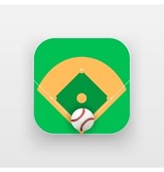 Square icon of baseball sport vector image