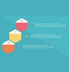 Step data for business infographic vector