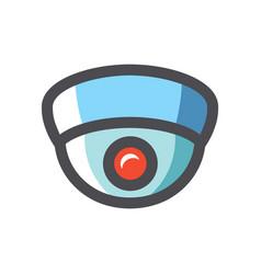 surveillance camera security icon cartoon vector image