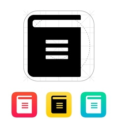 Text book icon vector