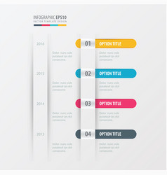 timeline design yellow blue pink color vector image