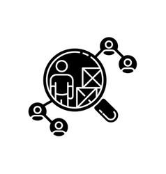 Vendor selection black glyph icon vector