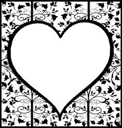 Vintage ornament heart vector