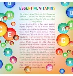 Vitamin complex image vector