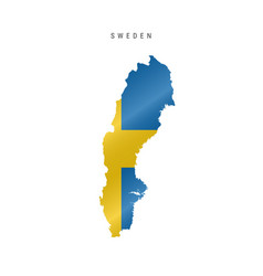 Waving flag map sweden vector