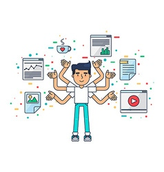 Web and UI UX Designer vector