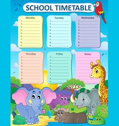 Weekly school timetable thematics 4 vector