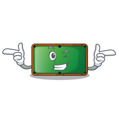 Wink billiard table is insulated with characters vector