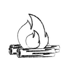 Wood fire vector