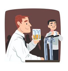 young man who drinking alone after work vector image