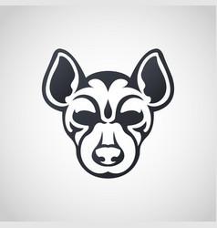 aardwolf logo icon design vector image