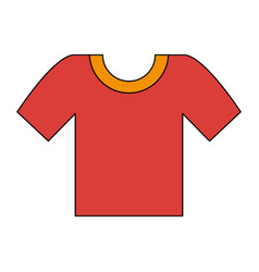 male tshirt isolated vector image