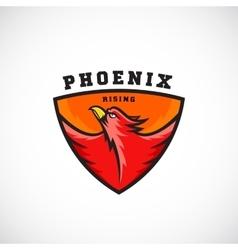 Phoenix Rising Abstract Logo Template vector image