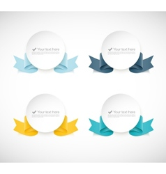 Set of labels with ribbons vector image vector image