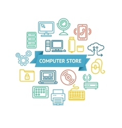 Computer Store Concept vector image vector image