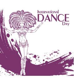 dance day samba vector image vector image