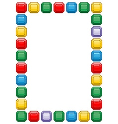 Diamond frame with space for text Colored vector image