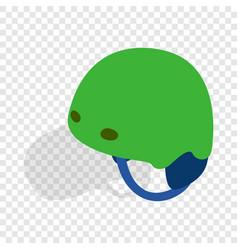 green ski helmet isometric icon vector image vector image