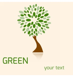 greentree vector image vector image