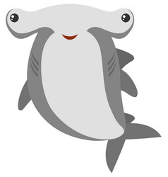 hammerhead shark with happy face vector image