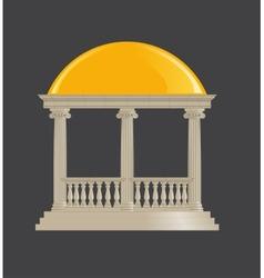Rotunda classic ionic order vector image vector image
