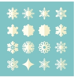 Snowflake winter set vector image vector image