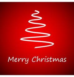 White christmas tree vector image vector image