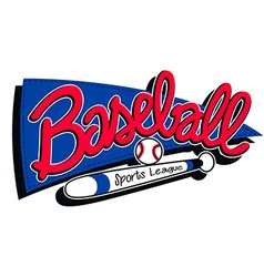 Baseball sports league childrens banner background vector image