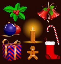christmas symbols vector image